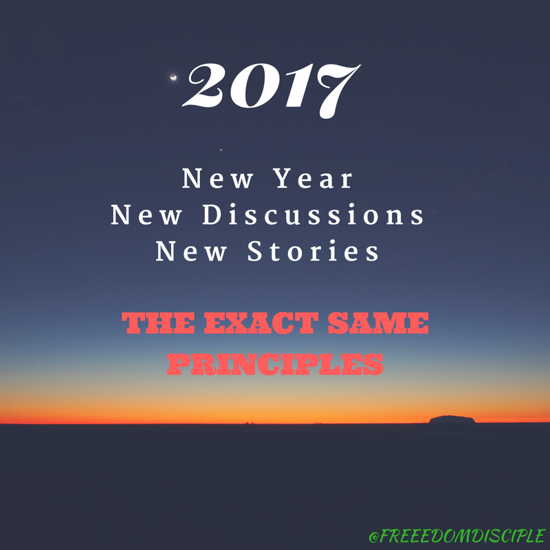 2017 – A New Year, New Discussions, New Stories, The EXACT SAME ...