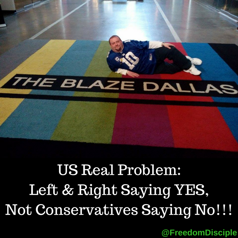 US Real Problem: Left & Right Saying YES, Not Conservatives Saying No!!!