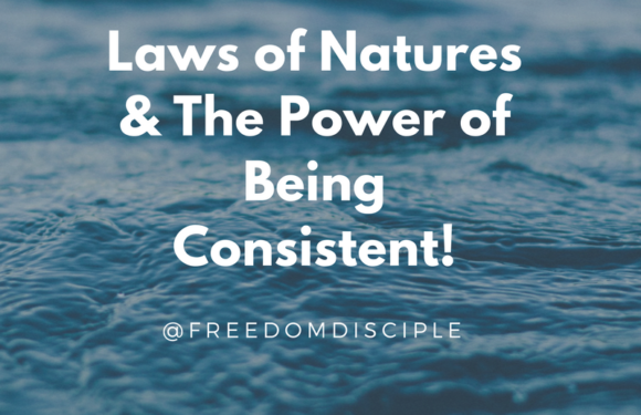 Laws of Natures & The Power of Being Consistent!