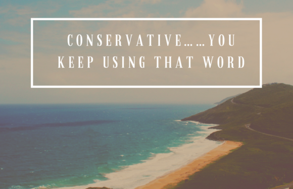 Conservative……You Keep Using That Word